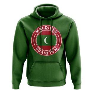Maldives Football Badge Hoodie (Green)