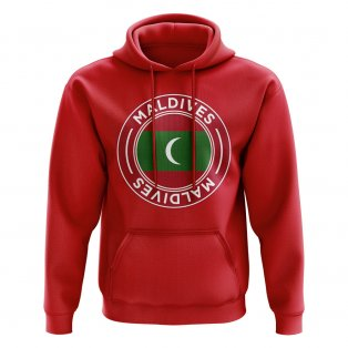 Maldives Football Badge Hoodie (Red)
