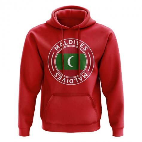 Maldives Football Badge Hoodie (Red)