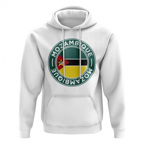 Mozambique Football Badge Hoodie (White)