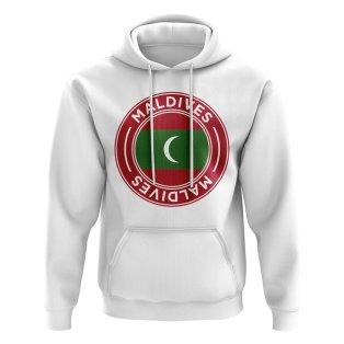 Maldives Football Badge Hoodie (White)