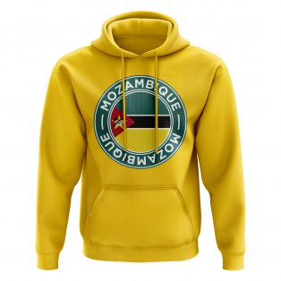 Mozambique Football Badge Hoodie (Yellow)
