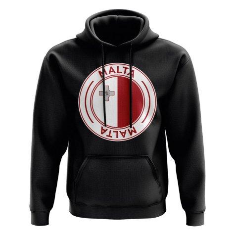 Malta Football Badge Hoodie (Black)