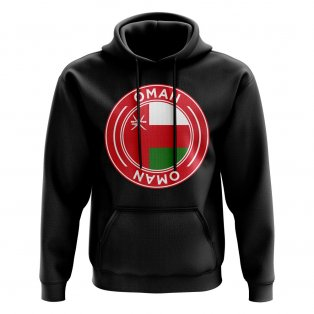 Oman Football Badge Hoodie (Black)