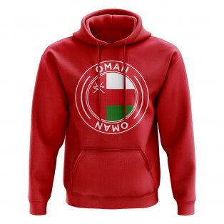 Oman Football Badge Hoodie (Red)