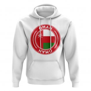 Oman Football Badge Hoodie (White)
