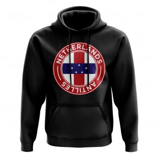 Netherlands Antilles Football Badge Hoodie (Black)