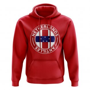 Netherlands Antilles Football Badge Hoodie (Red)