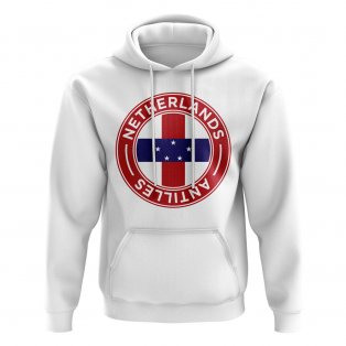 Netherlands Antilles Football Badge Hoodie (White)