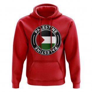 Palestine Football Badge Hoodie (Red)