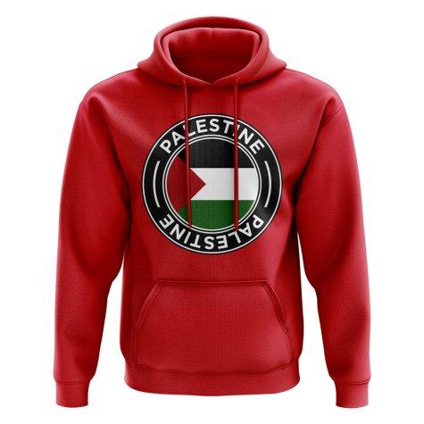Palestine Football Badge Hoodie (Red)