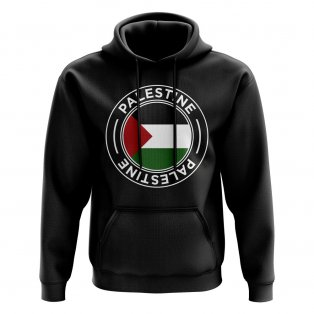 Palestine Football Badge Hoodie (Black)