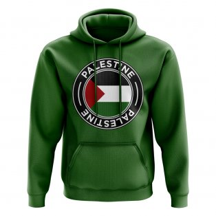Palestine Football Badge Hoodie (Green)