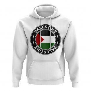 Palestine Football Badge Hoodie (White)