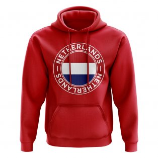 Netherlands Football Badge Hoodie (Red)