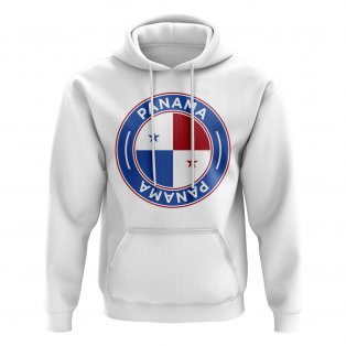 Panama Football Badge Hoodie (White)