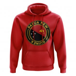 Papa New Guinea Football Badge Hoodie (Red)