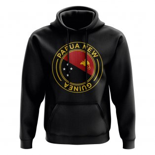 Papa New Guinea Football Badge Hoodie (Black)