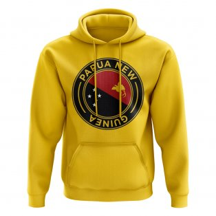 Papa New Guinea Football Badge Hoodie (Yellow)