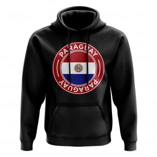 Paraguay Football Badge Hoodie (Black)