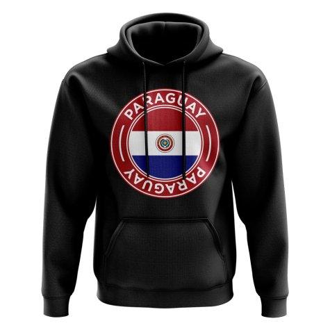 Paraguay Football Badge Hoodie (Black)
