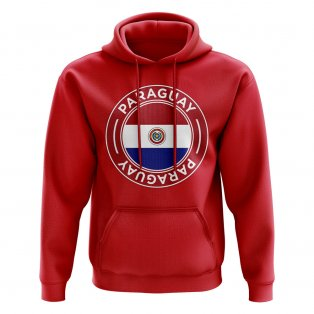 Paraguay Football Badge Hoodie (Red)