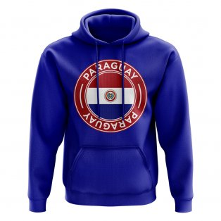 Paraguay Football Badge Hoodie (Royal)