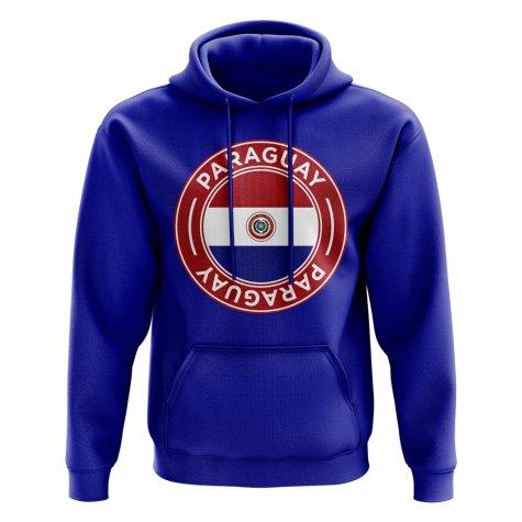 Paraguay Football Badge Hoodie (Royal)