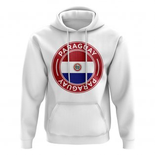 Paraguay Football Badge Hoodie (White)