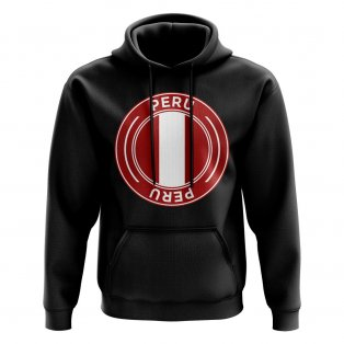 Peru Football Badge Hoodie (Black)