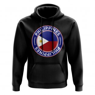 Philippines Football Badge Hoodie (Black)