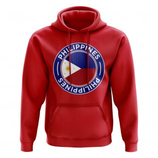 Philippines Football Badge Hoodie (Red)