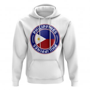 Philippines Football Badge Hoodie (White)