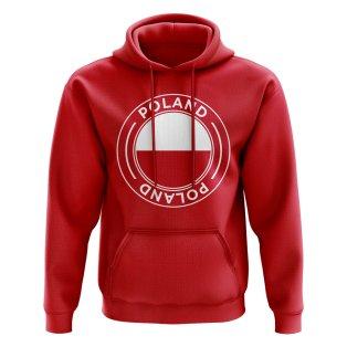 Poland Football Badge Hoodie (Red)