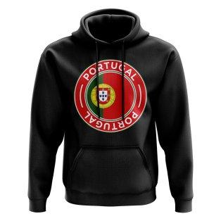 Portugal Football Badge Hoodie (Black)
