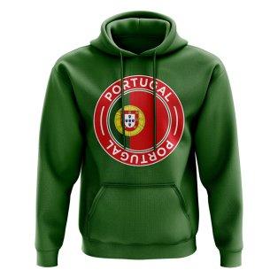 Portugal Football Badge Hoodie (Green)