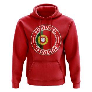 Portugal Football Badge Hoodie (Red)