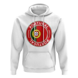 Portugal Football Badge Hoodie (White)