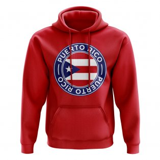 Puerto Rico Football Badge Hoodie (Red)