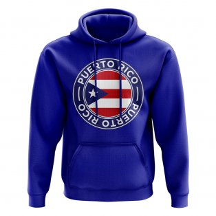 Puerto Rico Football Badge Hoodie (Royal)