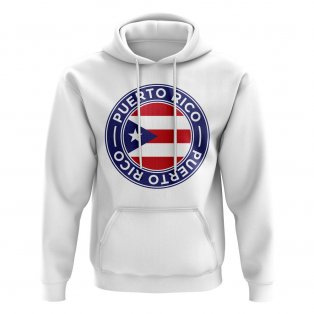 Puerto Rico Football Badge Hoodie (White)