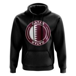 Qatar Football Badge Hoodie (Black)