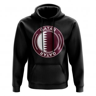 Qatar Football Badge Hoodie (Black)