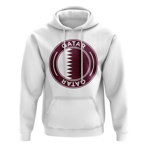 Qatar Football Badge Hoodie (White)