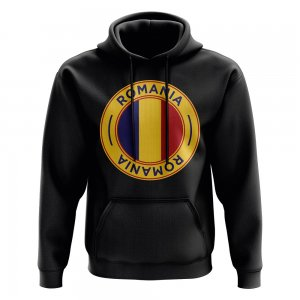 Romania Football Badge Hoodie (Black)