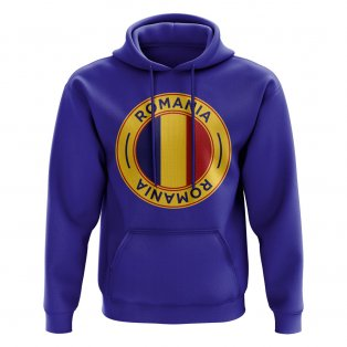 Romania Football Badge Hoodie (Royal)