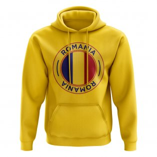 Romania Football Badge Hoodie (Yellow)