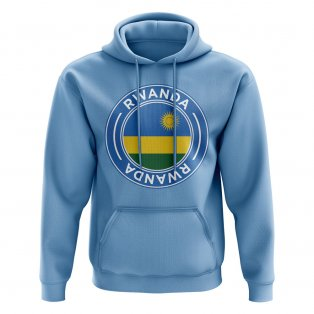 Rwanda Football Badge Hoodie (Sky)