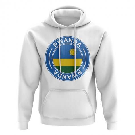 Rwanda Football Badge Hoodie (White)