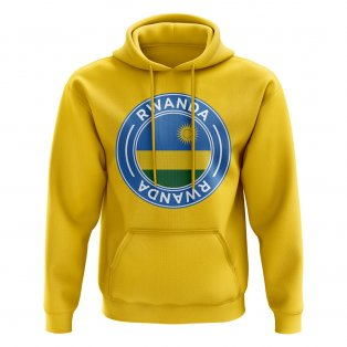 Rwanda Football Badge Hoodie (Yellow)